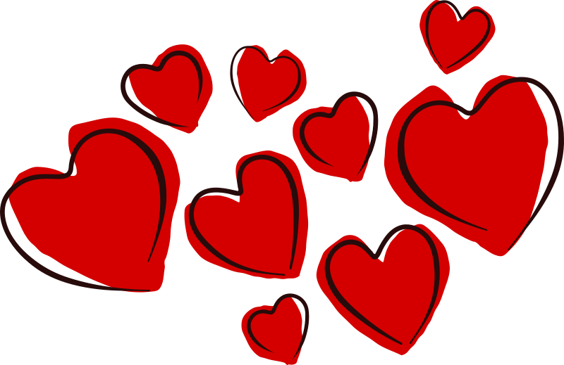 Free Sketchy Hearts