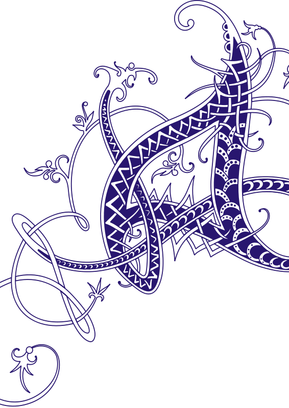 Free intricate_letter_A