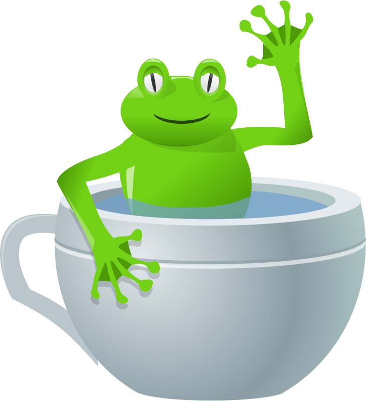Free unexpected frog in my tea