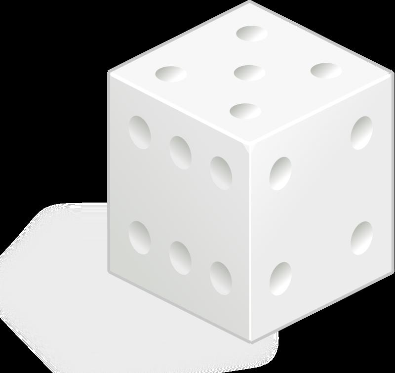 Free white dice