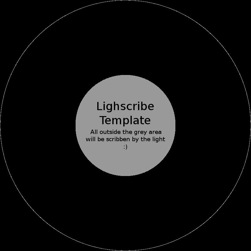 Free LightScribe CD DVD Template