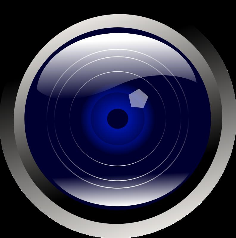 Free blue camera lens