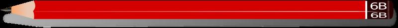 Free Clipart: Red 6B Pencil | kattekrab