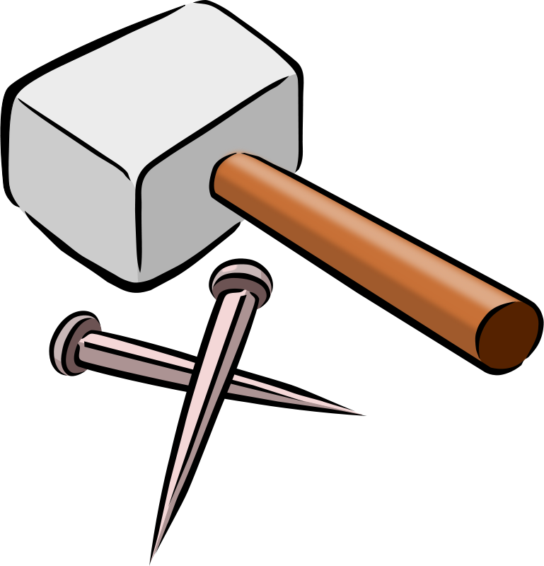 free clipart hammer and nails snarkhunter rh 1001freedownloads com hammer clipart free hammer and nails clipart