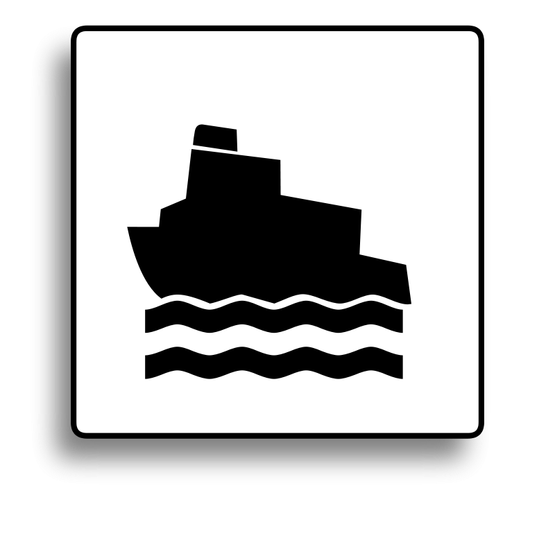 Free Ferry Icon for use with signs or buttons