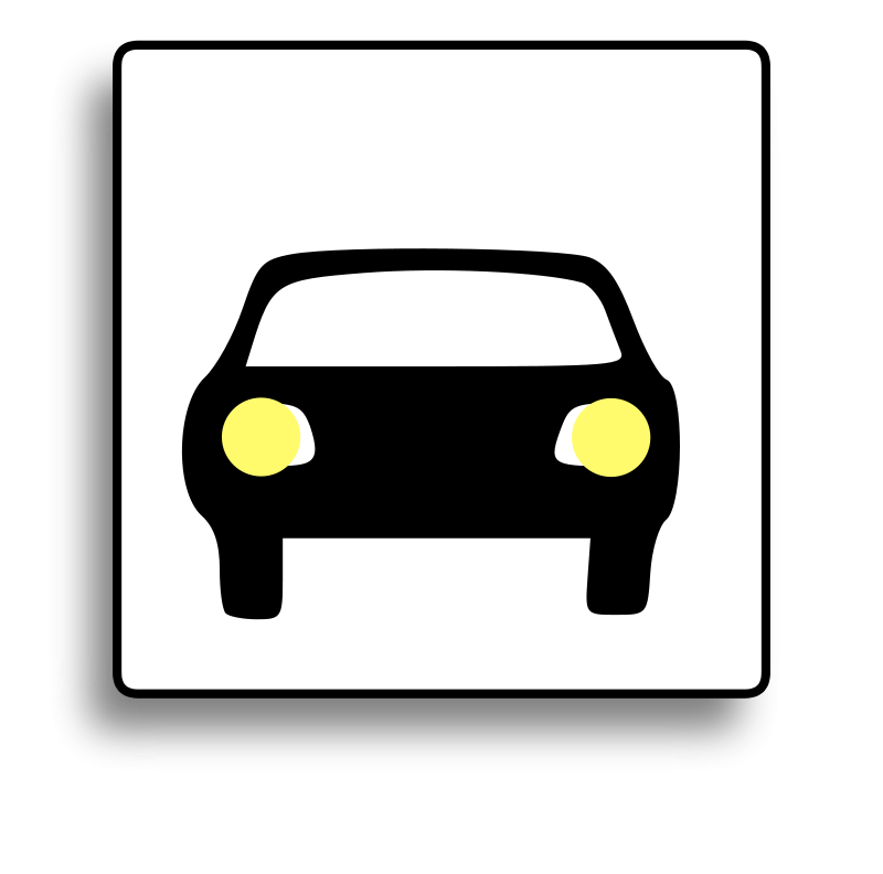 Free Car Icon for use with signs or buttons