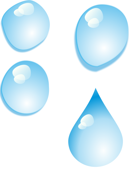 Free Clipart: Set of water drops | rg1024