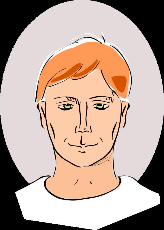 Free drawing of man's head
