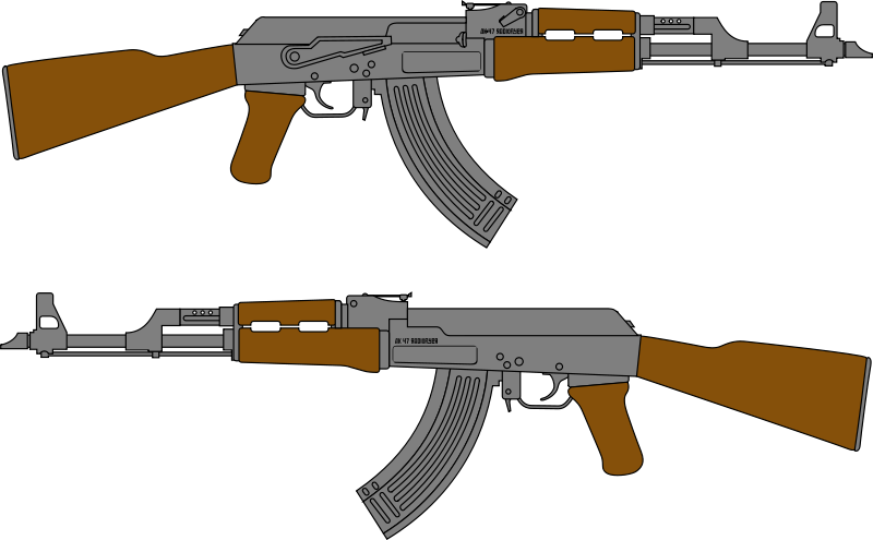 free clipart ak 47 rifle vector drawing radioflyer rh 1001freedownloads com