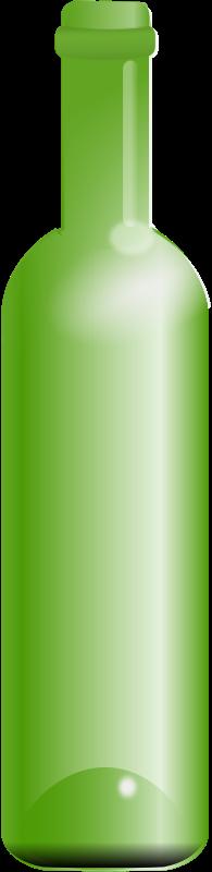 Free empty green bottle