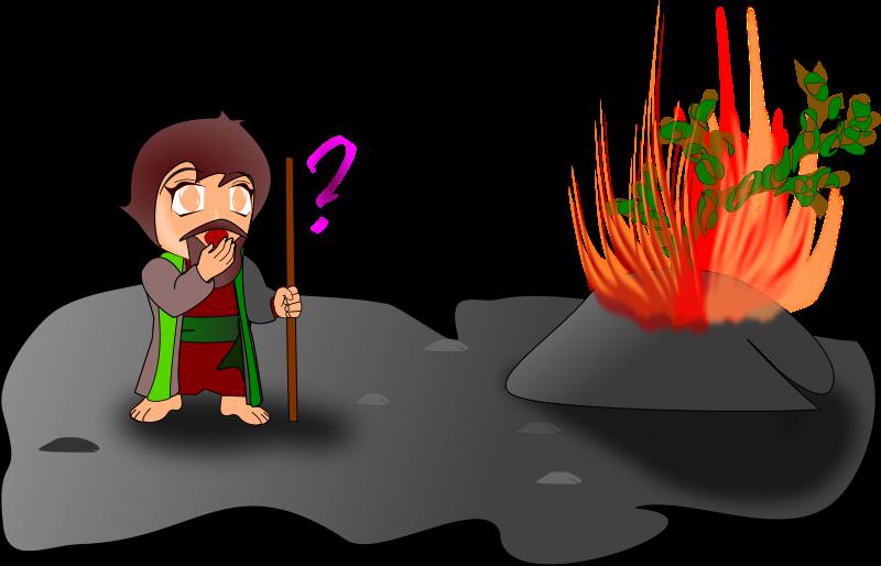 Free moses and the burning bush (chibi version)
