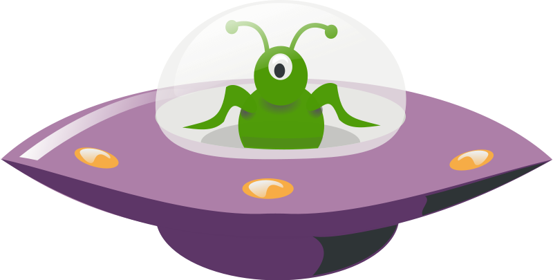 Free Clipart: UFO in cartoon style | rg1024