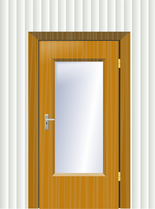 Free Door with cristal and wall