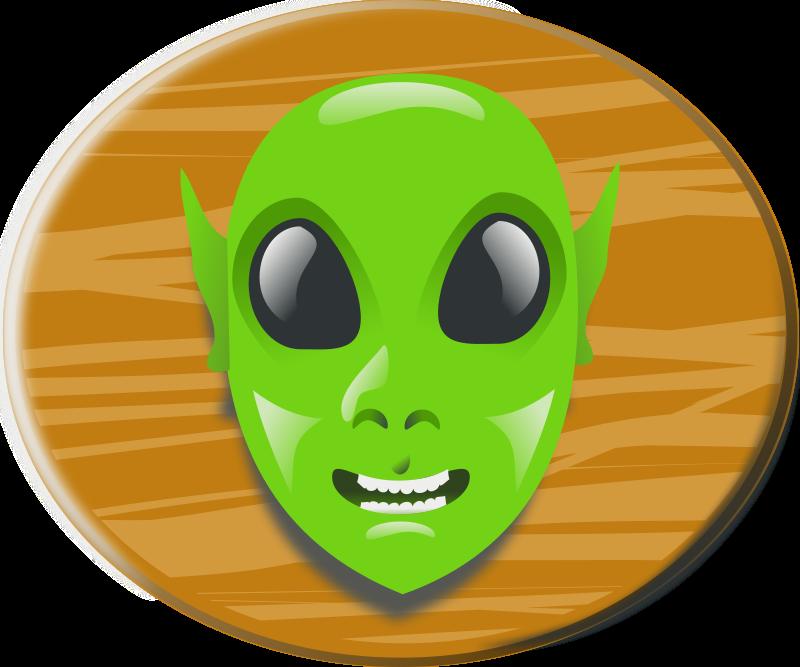 Free Clipart: Aliens head | rg1024