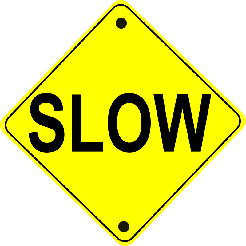 Free Slow Road Sign