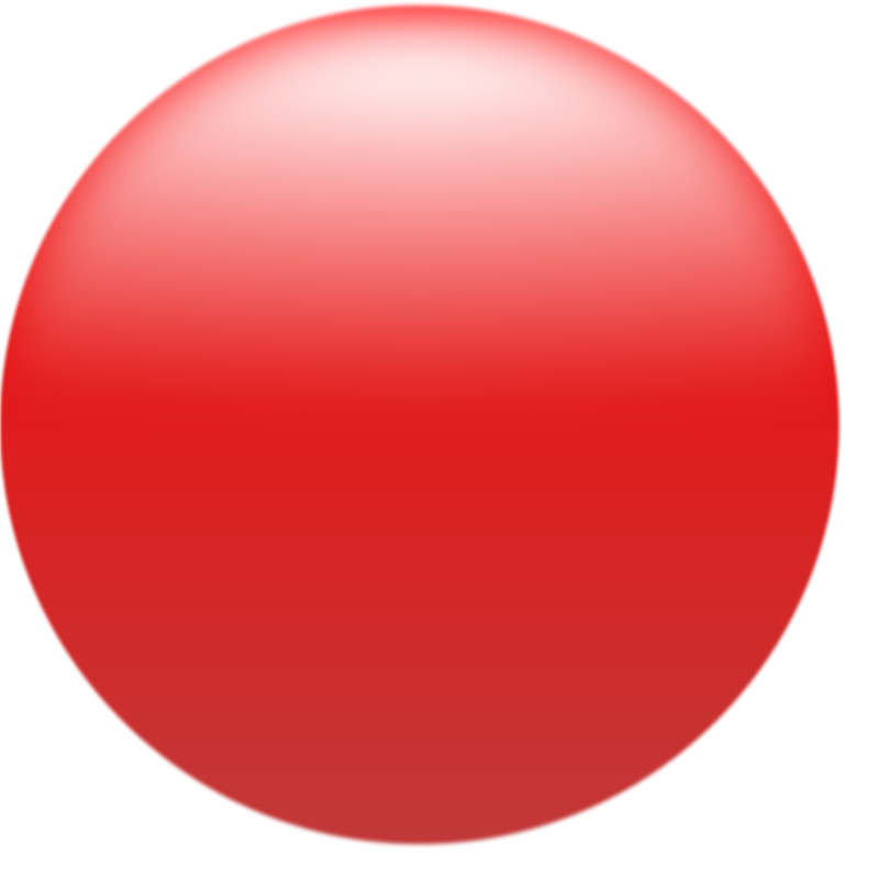 Free Simple Glossy Circle Button Red