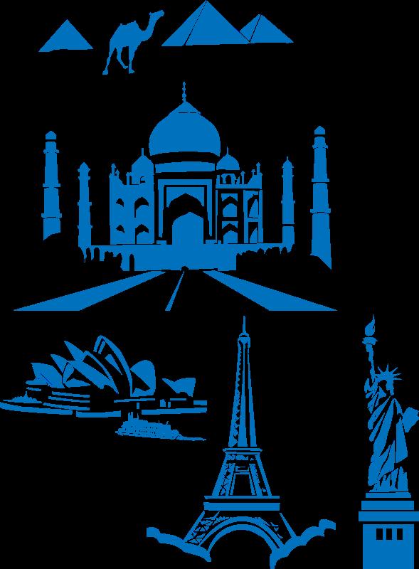 Free world landmarks