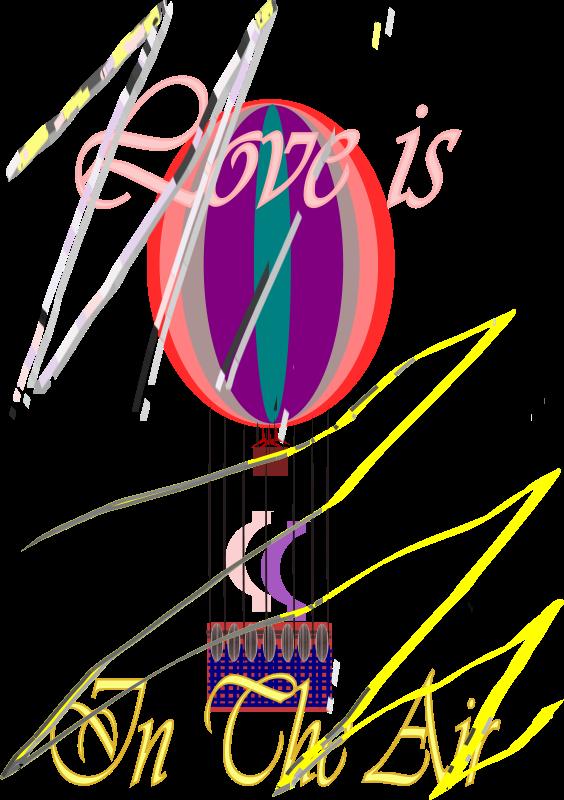 Free E-Card love is in the air Hot Air Balloon  08 SEP 2008