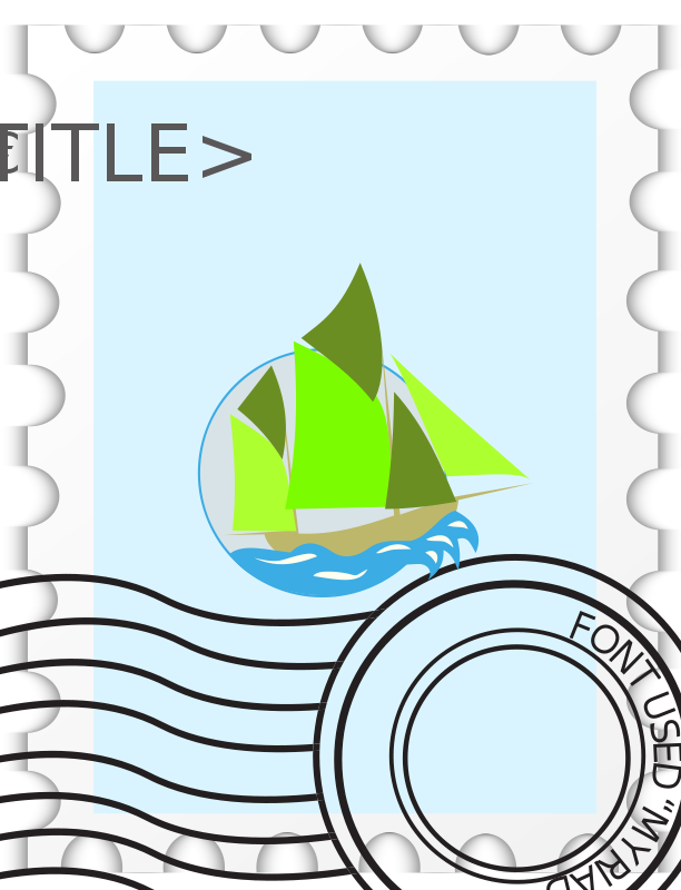 Free Postage Stampe template