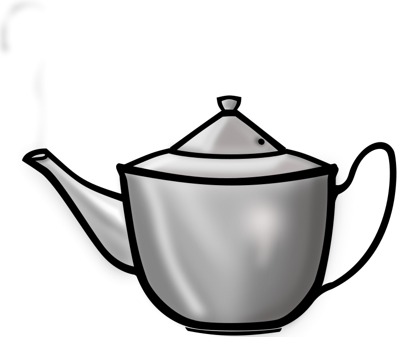 Free Clipart: Metal Tea pot | PrinterKiller
