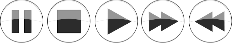 Free Glossy media player buttons