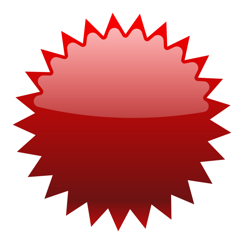 Free Red Star Button