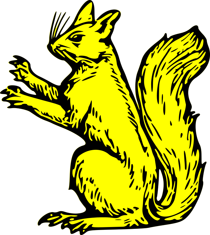 Free squirrel sejant erect