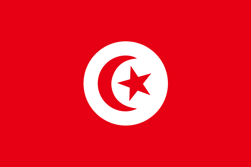 Free Flag of Tunisia