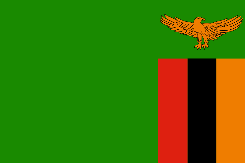 Free Flag of Zambia