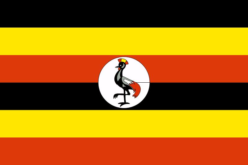 Free Flag of Uganda