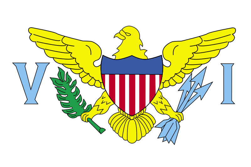 Free Flag of US Virgin Islands - United States
