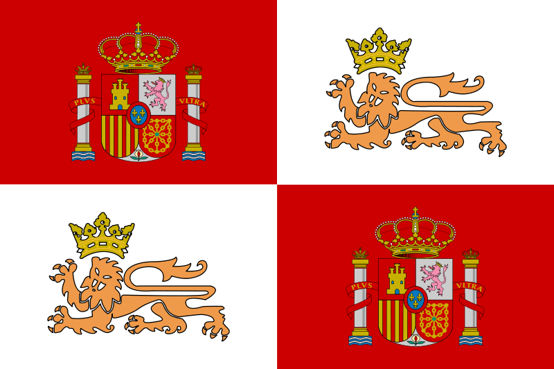 Free Historic Flag of the Spain Royal Navy