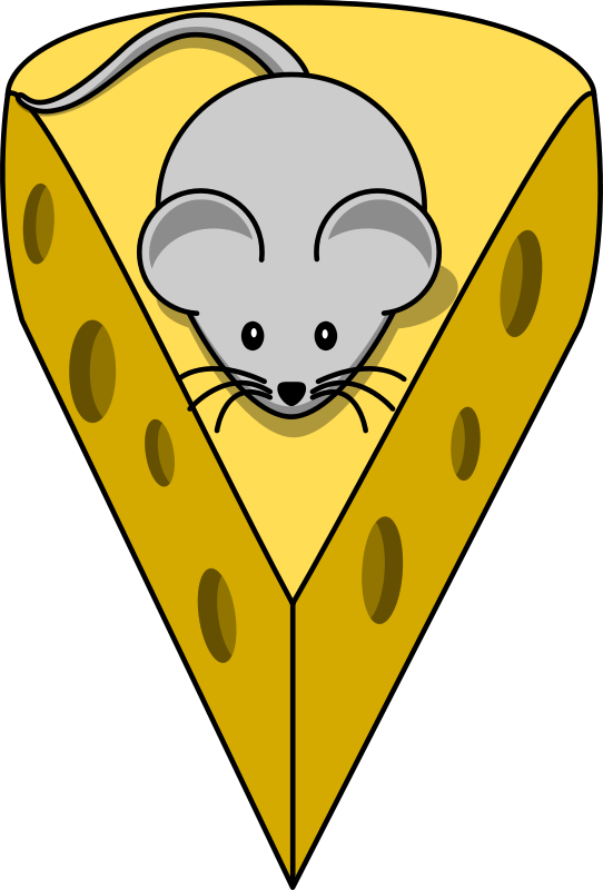 Free Cartoon mouse on top of a cheese