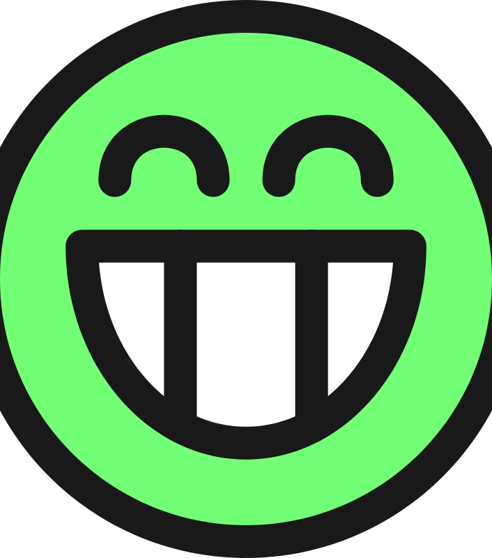 Free flat grin smiley emotion icon emoticon