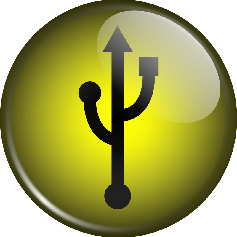 Free Glassy USB Symbol