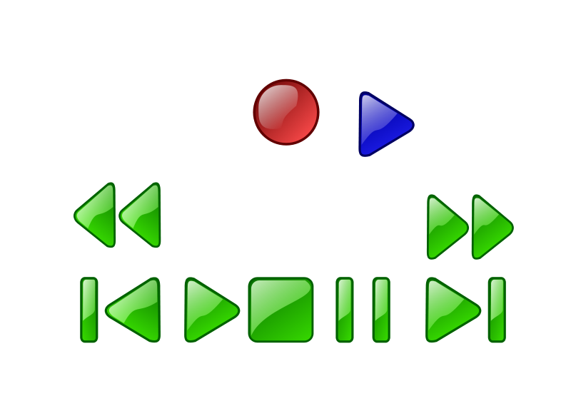 Free Clipart: Deck or VCR button | czara1