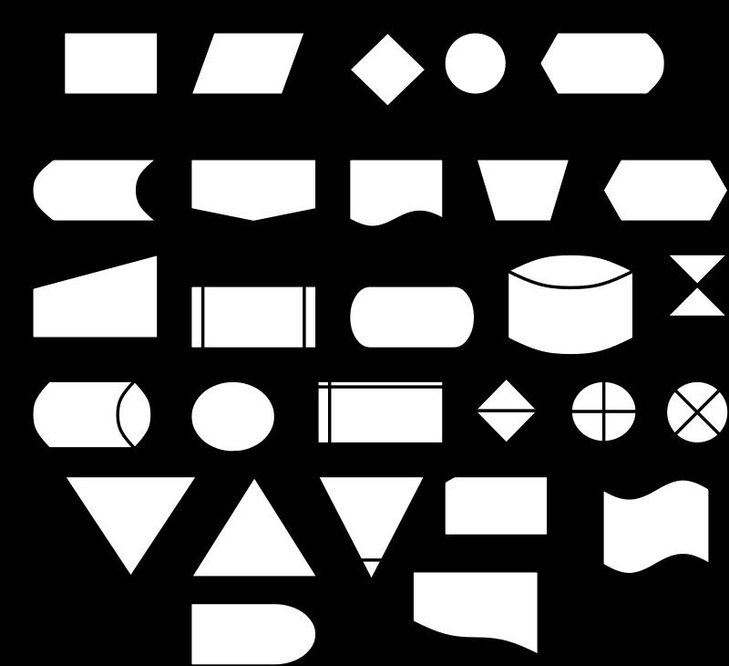 Free flow diagram symbols