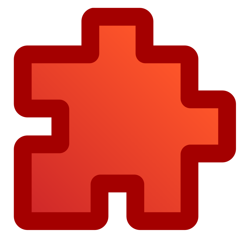 Free Clipart: Icon_puzzle_red | jean_victor_balin