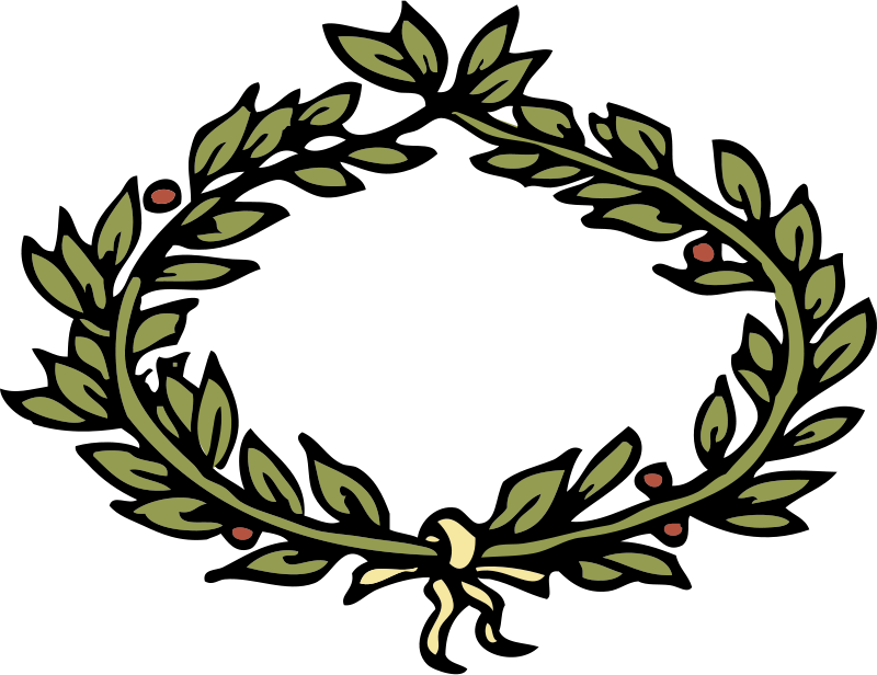 Free Clipart: Laurel crown | johnny_automatic