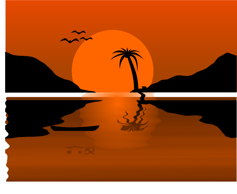 Free Sunset Waterscene
