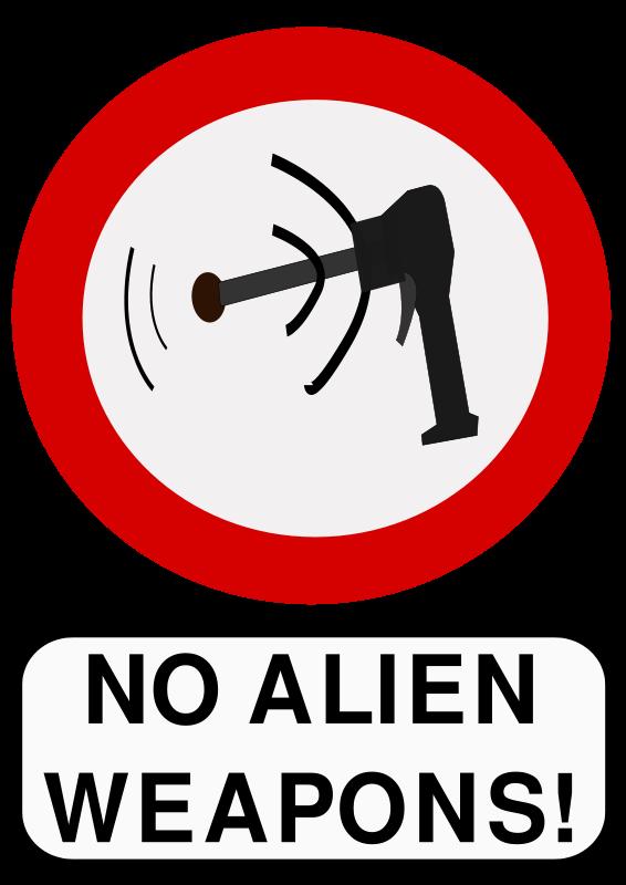 Free No alien weapons
