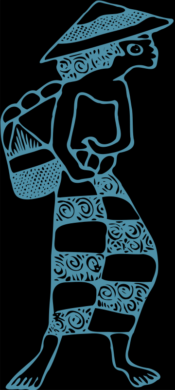Free Indonesian Woman Batik
