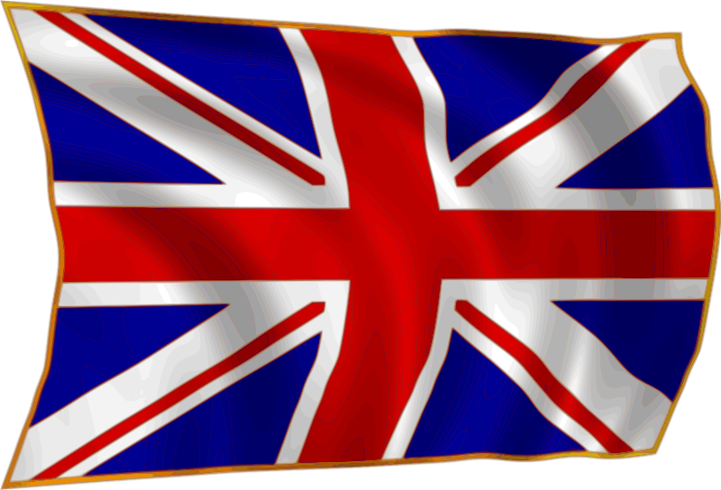 Free Union Flag fluttering in breeze