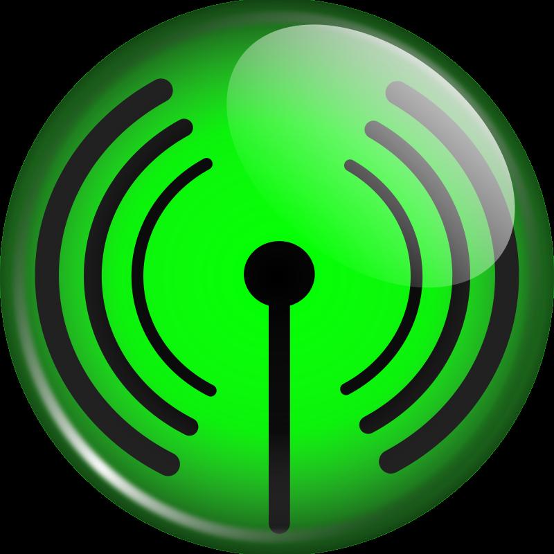 Free Glassy WiFi symbol