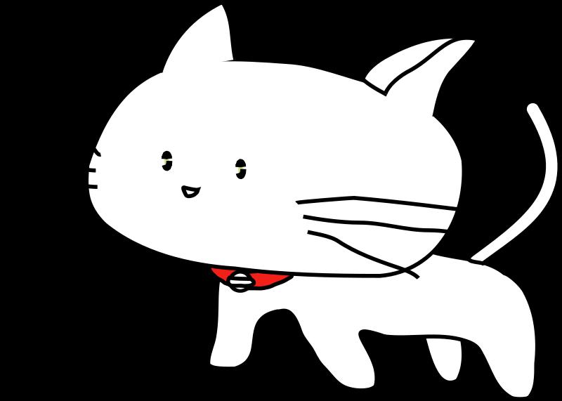 Free Clipart White Cat Antontw