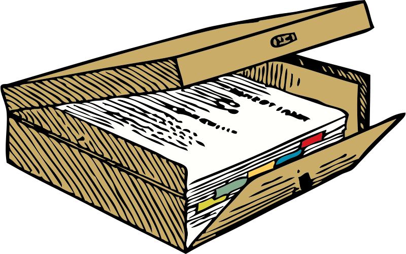 Free Clipart: Box file | johnny_automatic