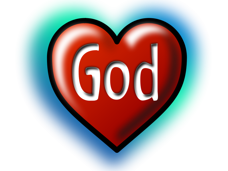Free God Heart (Text converted to image|path)