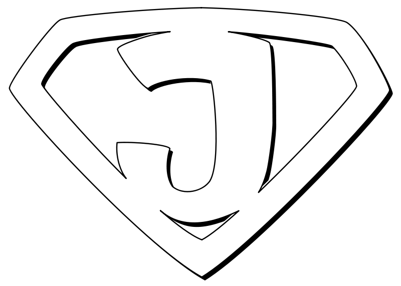 Free Super Jesus Outline