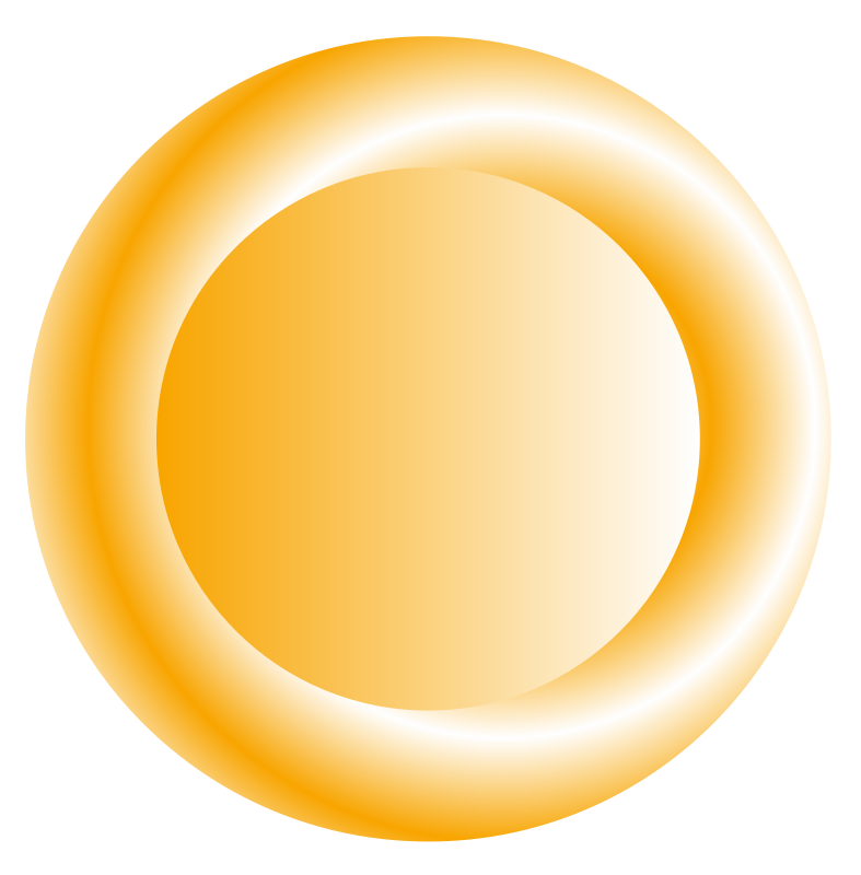 Free 3D orange circular button