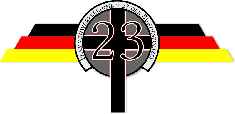 Free Flame Thrower Police Squad 23 Logo